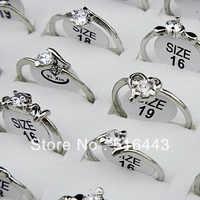 Gorąca sprzedaż 10 sztuk Mix Style cyrkonia biały moda kobiety pierścionki hurtownie biżuteria wiele darmowa wysyłka A-652