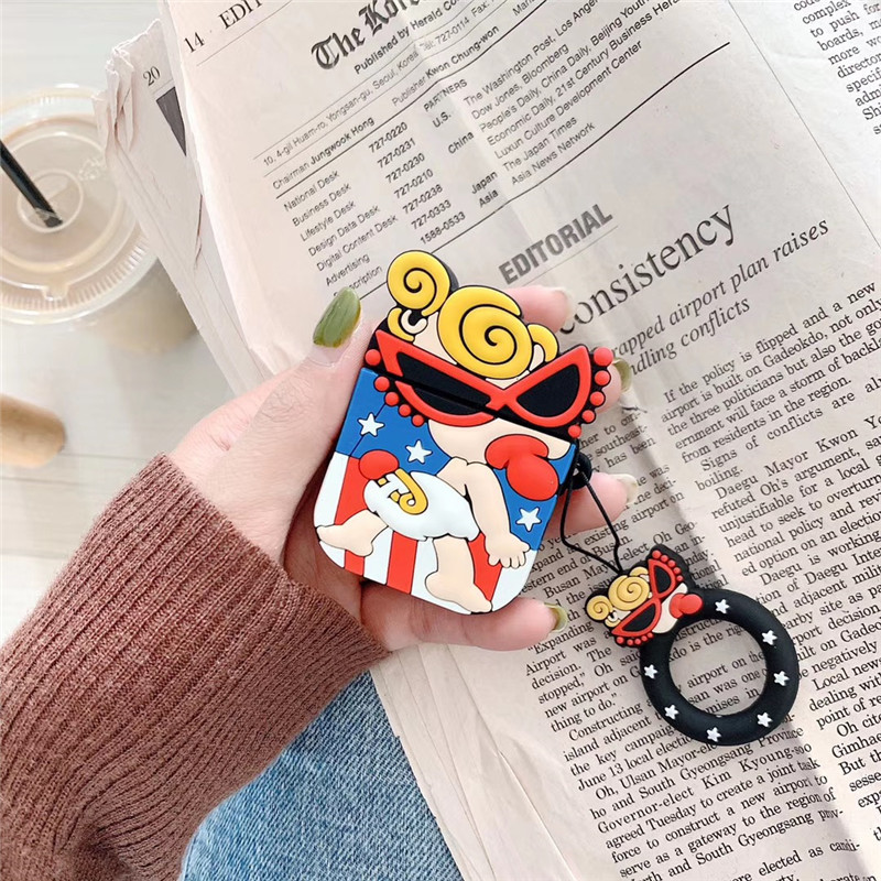 Cartoon Pacifier Girl For Airpod Case Cover Cute Soft Silicone Case For Airpods 2 Wireless Earphone Case i60 i80 tws Protector in Earphone Accessories from Consumer Electronics