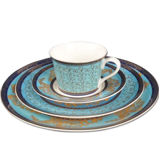 Ceramic western dish set 8 flat plate swing sets decoration plate blue ocean dream  sc 1 st  AliExpress.com & Ceramic western dish set 8 flat plate swing sets decoration plate ...