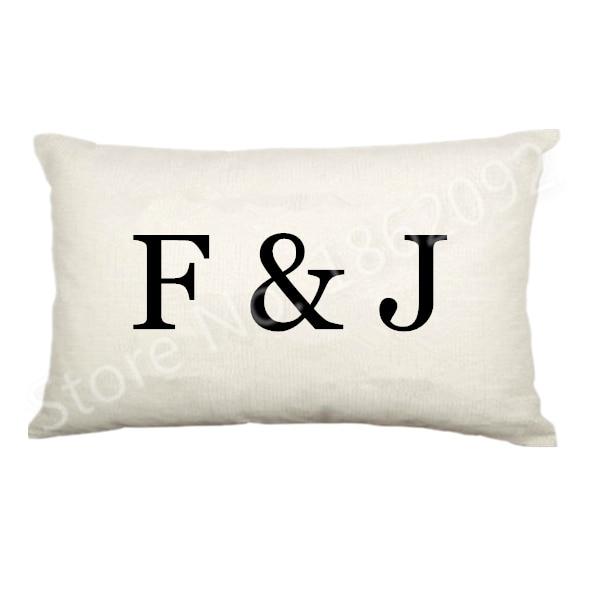 Lumbar Pillow Case Velvet Monogram