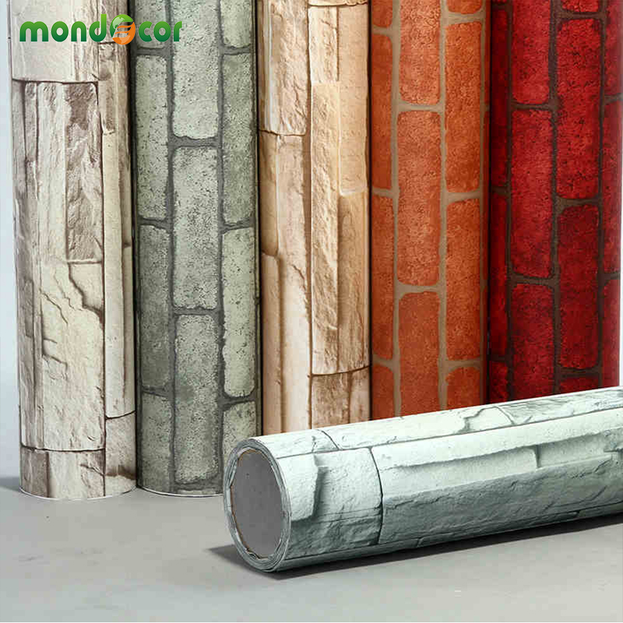 MXm Home Decor Wall Decals PVC Vinyl Brick Waterproof Wall - Vinyl wall decals brick