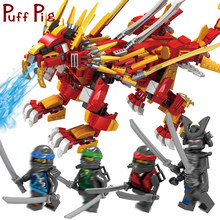 800PCS City Flying Lion Mech Future Dragon Knight Figures Building Blocks Zabawki Jouet Ninjagoed Movies Toys For Kids Boys(China)