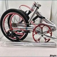 Fnhon CR MO Steel Folding Bike 16 Minivelo Mini velo Bike Urban Commuter Bicycle overall bike V Brake 9 Speed