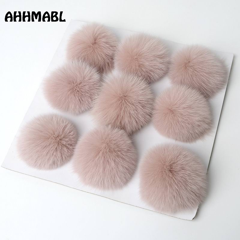 9 Pieces Big Natural Fox Fur Pom Poms 10cm Ball Pompom DIY Winter Brand New For Women's Knitted Hats   Skullies     Beanies   Boots