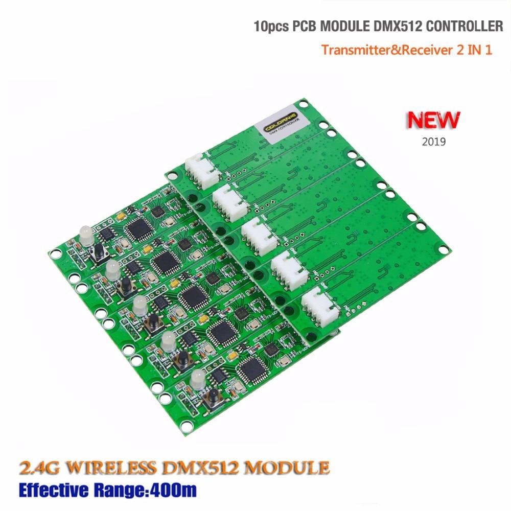 2019 New Dmx512 Controller 10pcs Transmitter Receiver 2 in 1 Wireless DMX512 Controller PCB Module Upgrade