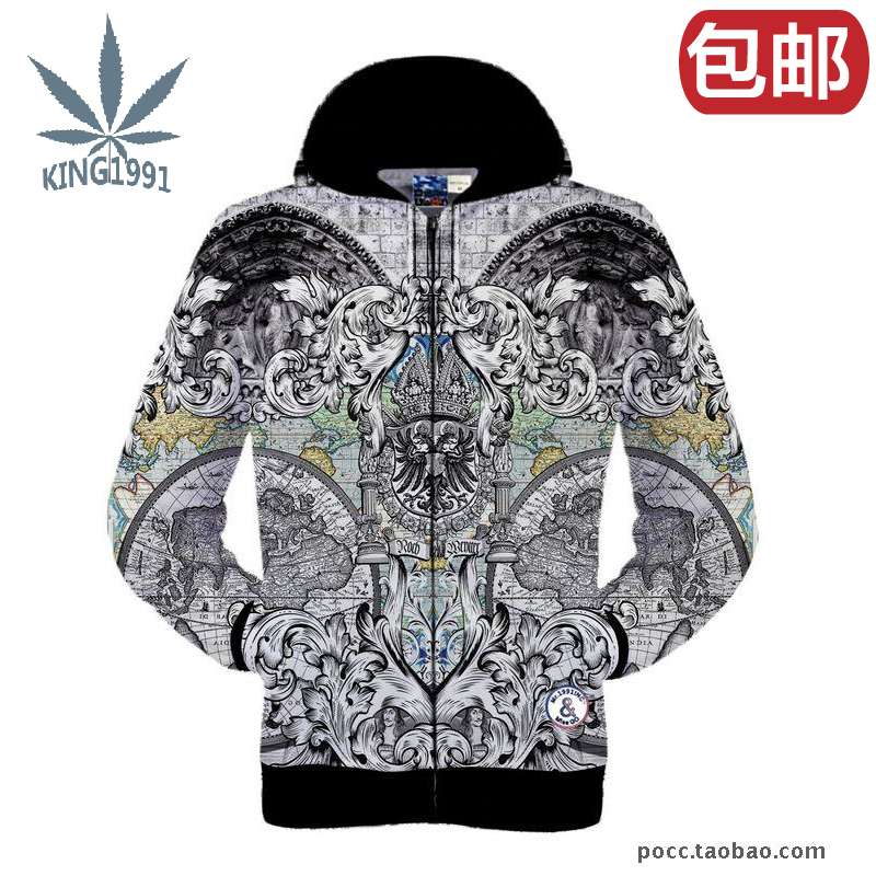 European and American font b fashion b font personality palace religion statue pattern printing 3D hoodies