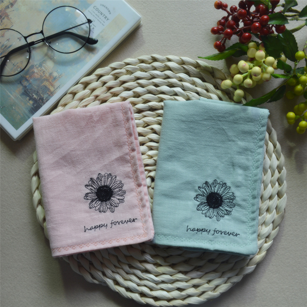 Little Daisy ~ Embroidery Flower Ms Shu Embroidery Art Students Small Pure And Absorb Time! Plain Coloured Handkerchiefs