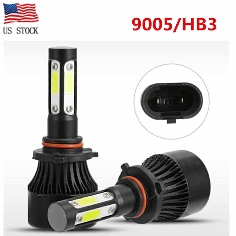 2 шт. X7 4-сторонняя лампа светодиодный H4 фар H7 H11/H8 9005/HB3 9006/HB4 9004 5202 9012/HIR2 9007 60 Вт 20000LM Противотуманные фары лампы авто внедорожник 6500K
