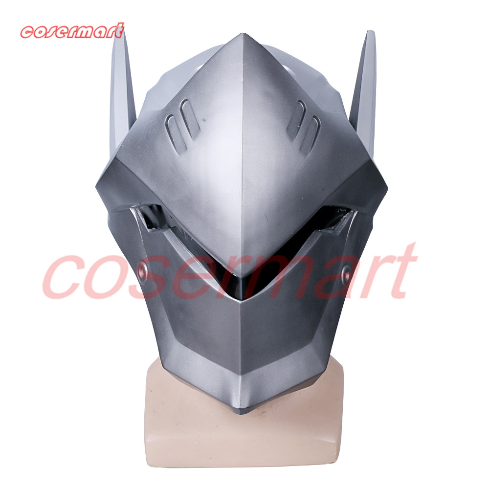 Game OW Over Watch Genji Overhead Helmet Cosplay Mask PVC Helmet Halloween Carnival Party Prop (6)