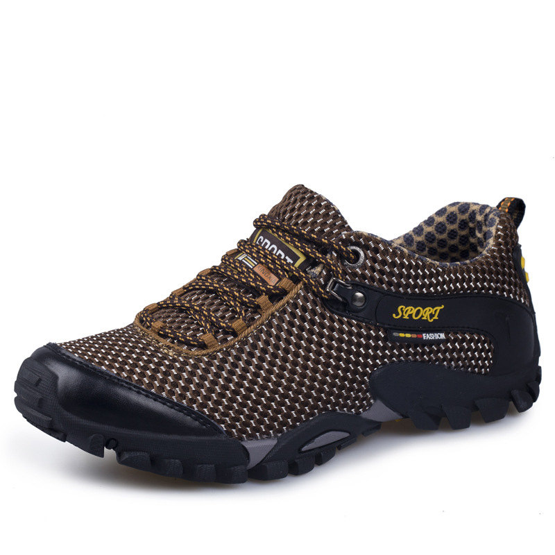 Special Offer Medium b m Hiking Shoes Lace up Leather Outdoor 2017 Sport Men Climbing Outventure