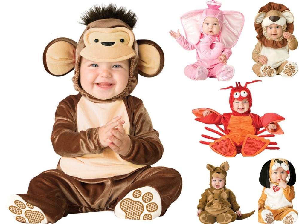 Cartoon Baby Infant Elephant Lobster Romper Kids Onesie Suit Animal Cosplay Shapes Costume Child autumn winter Clothing brand infants costume series animal clothing set lion monster owl cow clasp elephant kangroo baby cosplay cute free shipping