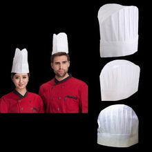 5 piezas Catering sombrero caliente casquillo elástico hombres cocinero no  tejido cocina nuevo blanco panadero( 9ee5fe00440