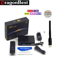 Receptores de satélite tv receptor freesat V8 Súper TLC newcam DVB-S2 apoyo Biss Clave 3G IPTV Youporn
