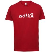 Evolution Of Man Spin - Mens T-Shirt Fitness Class 13 ColoursPrint T Shirt Short Sleeve HotMans Unique Cotton