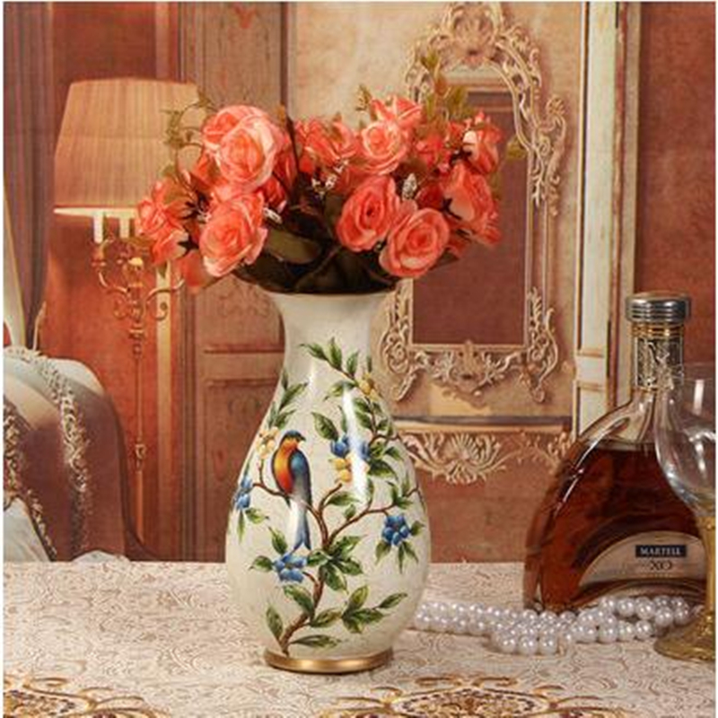 Aliexpress Buy Ceramic Vase European Style Living Room Decorative Arts And Crafts