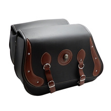 Motorbike Saddle bags Leather Swingarm Bag Side outdoor Tool Bags Storage For Sportster after market