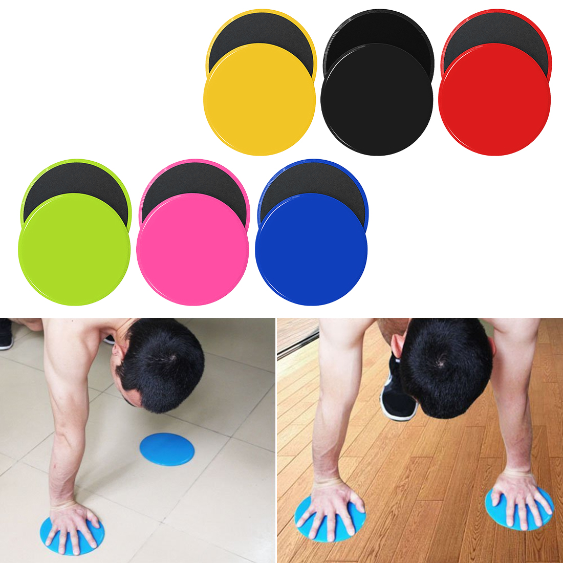 Good Circle Type Gliding Discs Slider Fitness Disc Core Exercise Sliding Plate Yoga Gym Abdominal Training Exercise Equipment Accessories Fitness & Body Building