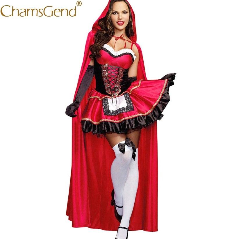 Nieuw Ontwerp 3 Stks/set Vrouwen Cosplay Kostuum Kleine Rode Hoed Gothic Sexy Jurk Mantel Handschoenen Set Sexy Meid Cosplay Kleding Voor Show Laatste Mode