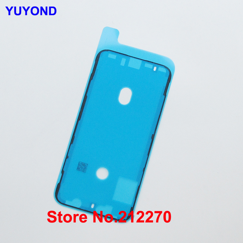 YUYOND Original New Waterproof Adhesive Sticker For iPhone XS Front Housing Frame Pre Cut Replacement Parts