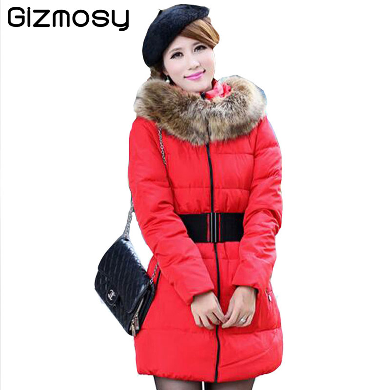 1 Pcs Winter Jacket Women Large Fur Collar Hooded Warm Coat Cotton Zipper Slim Fit Padded Parkas Plus Size Casual Outwear SY477 vietnam the real war