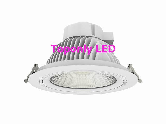 Europe New Design Luna COB 8 downlight led 35w high bright 120lm/W CRI>80 rotatable LED indoor ceiling recessed spot lamps 120 luna pearl