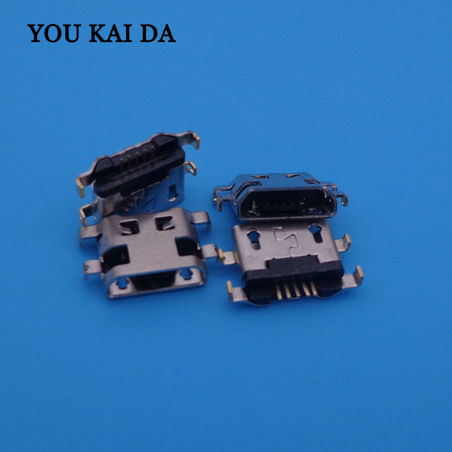 100pcs/lot For <font><b>Alcatel</b></font> <font><b>6035R</b></font> Idol S 4033 4033D POP C3 Mini micro usb charge charging connector plug dock socket charger port image