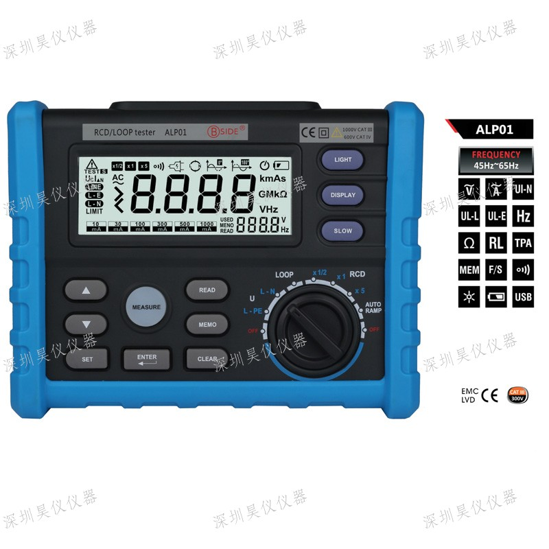 BSIDE ALP01 Professional LOOP and Residual Current Devices Multi-function Meter Tester Capacitance meter