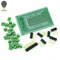 WAVGAT Double Side PCB Prototype Screw Terminal Block Shield Board Kit For MEGA 2560 Mega 2560