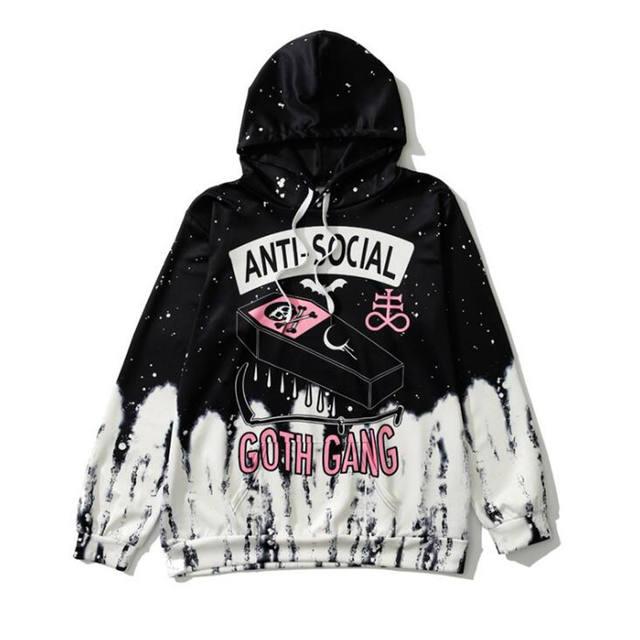 3D ANTI SOCIAL GOTH GANG HOODIE