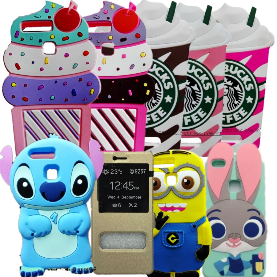 Huawei P9 lite Case Cute Cartoon 3D Minnie Mouse Soft Rubber Silicon Protector Back Cover Case For Huawei P9 G9 Lite