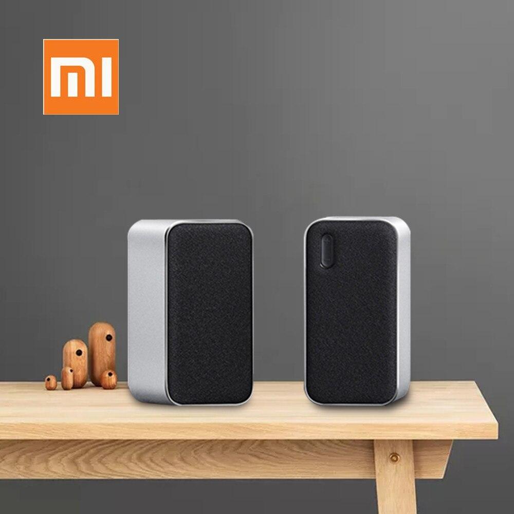 Original Xiaomi Bluetooth Computer Speaker 2PCS Portable Double Bass Stereo Wireless Speaker Bluetooth4.2 Support Voice Call