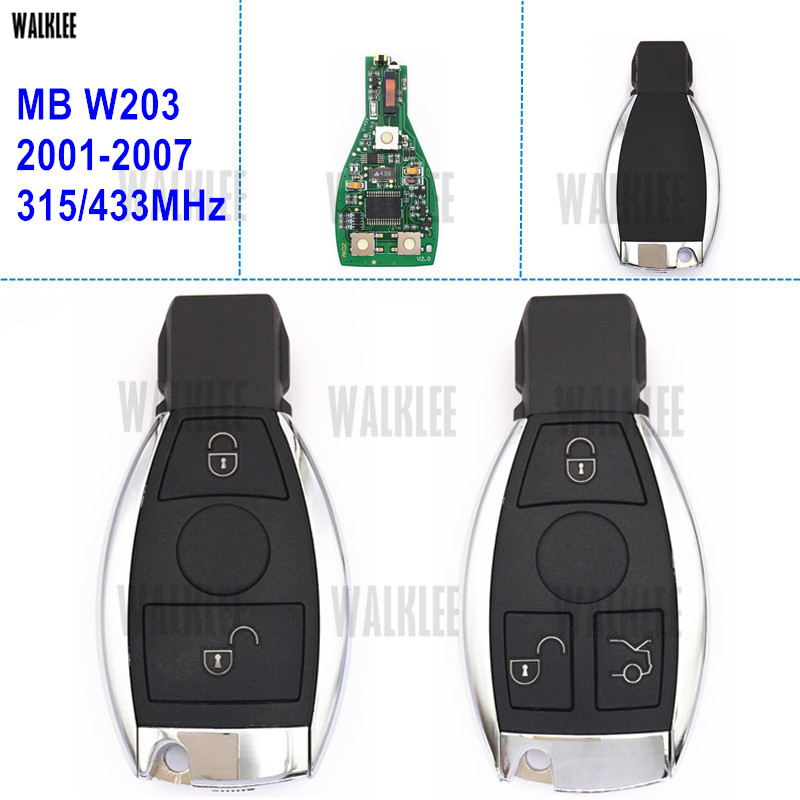 WALKLEE Remote Smart Key Fit for Mercedes Benz C-Class W203 AMG Turbo CDI C160 C180 C200 C220 C230 C240 C270 C280 C320 2001-2007 rear wheel bearing with hub assembly for mercedes benz w202 c180 c200 c220 c240 c280 c230 c250 a2033570108