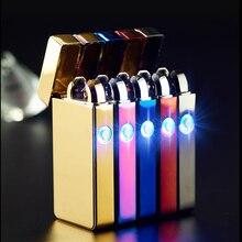 ที่ชื่นชอบของคนหนุ่มสาวDual Arc USBไฟแช็อิเล็กทรอนิกส์แบบชาร์จข้ามไฟแช็กแอลอีดี