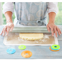 Adjustable Length Rolling Pin Stainless Steel Fondant 43cm Rolling Pin Cake Roller Dough Rolling Pin Bakeware Tools