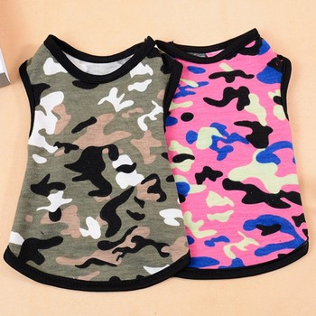 Pet Dog Vest Summer Clothes Camouflage T Shirt For Small Dogs Cotton Sportswear Puppy Cat Costume Goods for Boy Girl Dogs