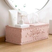Европейский стиль резная коробка для салфеток журнальный столик для гостиной поднос Домашний Настольный Диспенсер Салфеток многоцелевой ящик для хранения салфеток