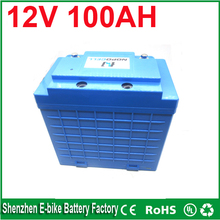 Free Shipping rechargeable lifepo4 battery 12v 100ah deep cycle lithium ion battery for solar system/ LED light / e bike