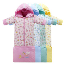 Hot batch of winter sleeve can be taken out of the sleeve of infants and young children safe cotton baby sleeping bag