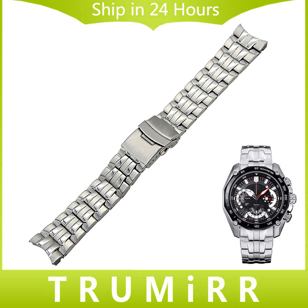 Stainless Steel Watchband for Casio Edifice EF 500 512 524 527 530 544 547 550 554