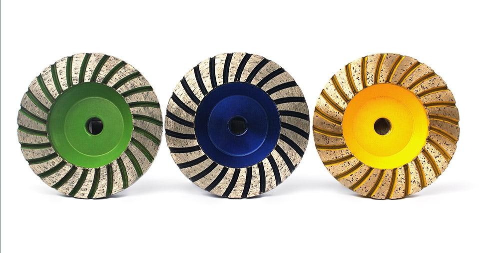 "Diamond Turbo Grinding Cup Wheel 50# Coarse Grit For Concrete Granite Floor Aluminum Based Diamond Grinding Wheel - 4"" #50"