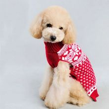 NEW Dogs Clothing Snowflake Sweater Pet Dog Sweater Knit Clothes Dog Sweaters For Christmas Warm Winter