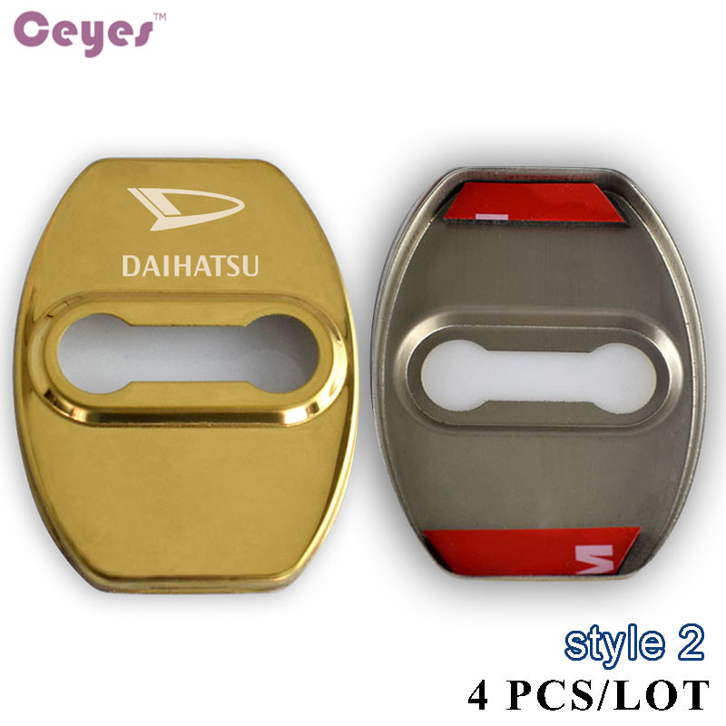 Ceyes auto door lock cover jdm car styling case for daihatsu ceyes auto door lock cover jdm car styling case for daihatsu terios sirion yrv car stickers stainless steel car styling 4pcslot in car stickers from sciox Choice Image