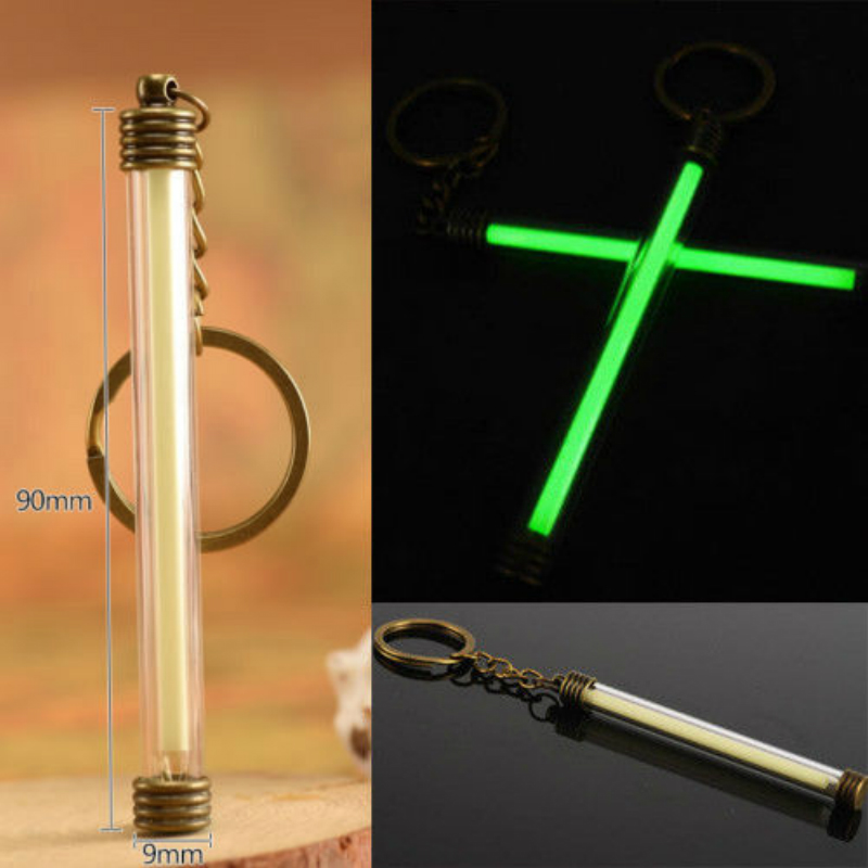 Big Size 25 Years Tritium Gas Key Chains Acrylic Anti Shock 90mm 3.5