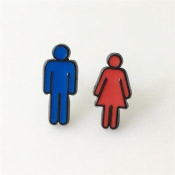 Сережки мужчина и женщина