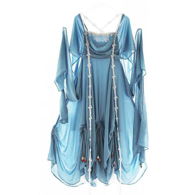Dentelle Originaux Irinaw201 Maxi De Plage Dessins 2018 Bleu Soie Femmes Applique Perles D'été Mousseline Longue Vintage Nouveautés Robe rwqUqvXI