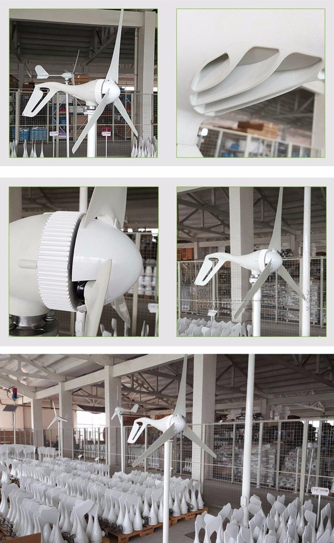 Livraison gratuite 100 W 200 W 300 W générateur de moulin à vent 12 V 24 V options 3 phases ac tension blanc 3 lames - 3