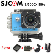 Original SJCAM SJ5000X Elite Gyro Deporte Cámara de Acción WiFi 4 K 24fps 30fps 2.0 LCD + Extra de 2 K 1 batería + Cargador + Cargador de Coche + Soporte