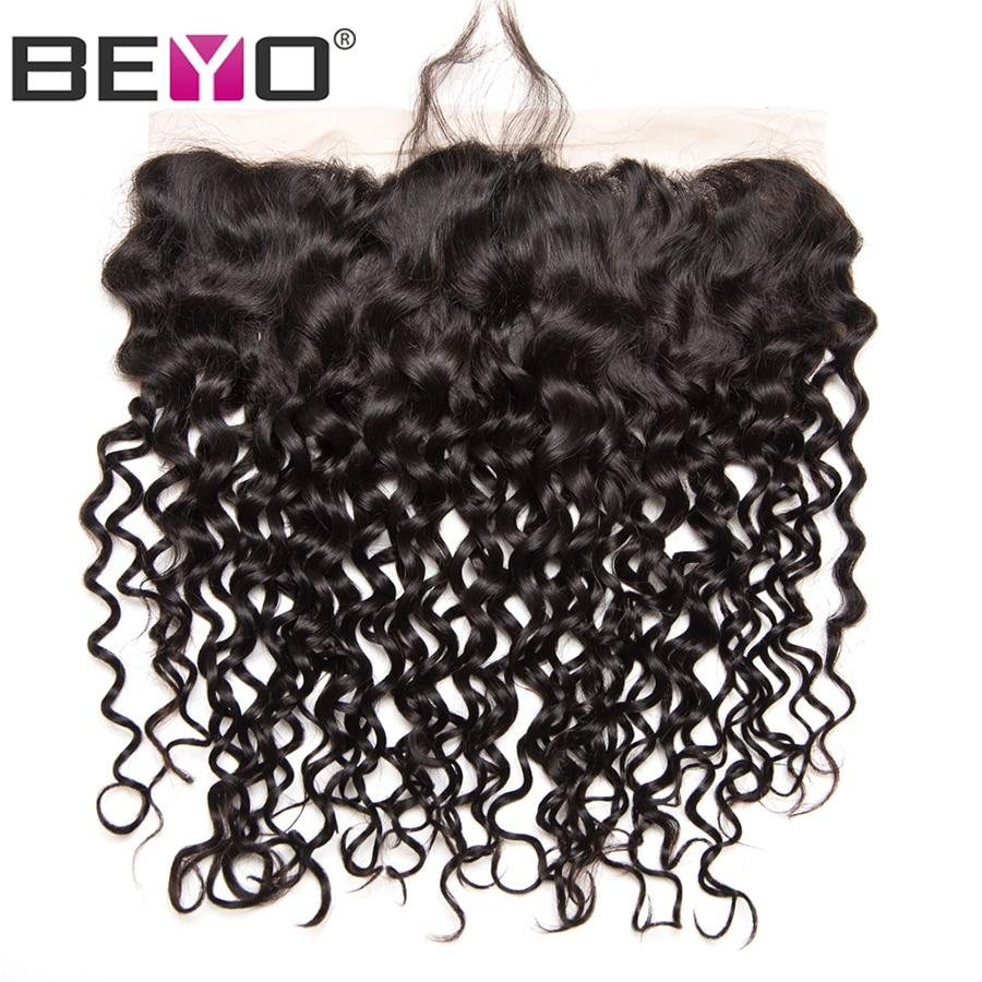 Beyo pré-pincé dentelle frontale fermeture vague brésilienne vague - Cheveux humains (noir) - Photo 6