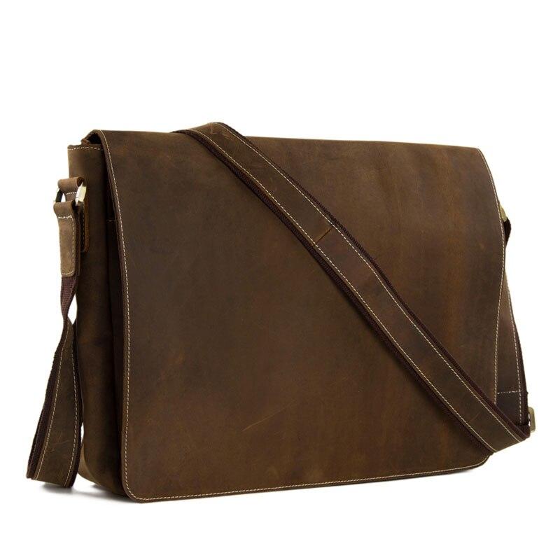 Винтажная кожаная сумка-мессенджер ручной работы, сумка для ноутбука, сумка-портфель, дропшиппинг 1053L