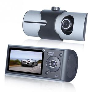 "Image 3 - 듀얼 카메라 자동차 dvr r300 gps 및 3d g 센서 2.7 ""tft lcd x3000 캠 비디오 캠코더 사이클 녹화 디지털 줌"